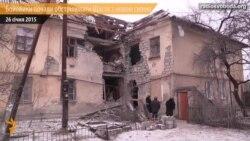 Айдаравец паказаў наступствы танкавых удараў па жылых будынках у Шчасьці