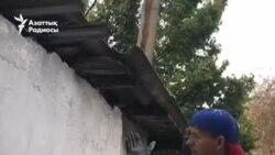 Карантинде Шымкент көшесін түрлендірген суретші