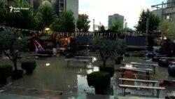 Shiu përmbyt Prishtinën
