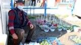 Vânzător de flori la Drochia