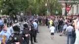 Anti-Putin Song Sung Outside Russian Consulate In Kharkiv
