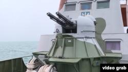 30-миллиметровая спаренная артиллерийская уставка на корабле Морской охраны «Донбасс»