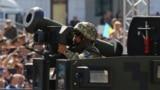 """Украинский военный с американским противотанковым ракетным комплексом """"Джавелин"""""""