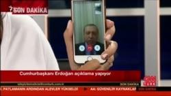 Erdogan canlı yayımda