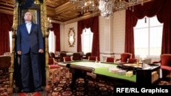 Володимир Путін в палаці, колаж