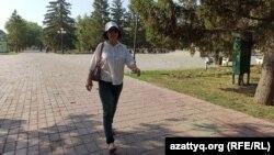 Оралдық белсенді Маруа Ескендірова. 20 тамыз 2021 жыл.
