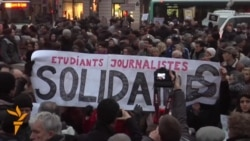 Thousands Hold Vigil In Paris For Shooting Victims