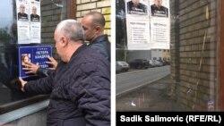 Plakati s likom Handkea u Srebrenici uklonjeni su dva sata nakon postavljanja.