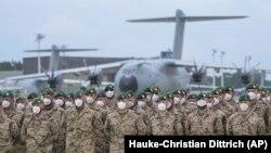 Ushtarët gjermanë pas kthimit nga Afganistani.