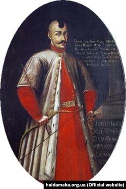 Один із організаторів козацького війська, гетьман, князь Дмитро Вишневецький (близько 1517–1563/1564). Портрет XVIII століття. Вважається, що саме він став прообразом легендарного Байди – оспіваного в народних думах героя
