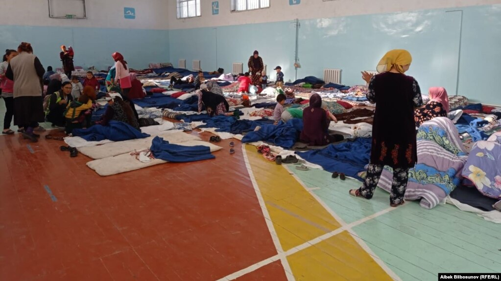 Authorities in the Batken region said 13,500 Kyrgyz were evacuated from villages along the border.