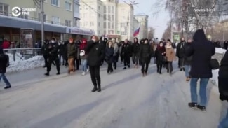 Thousands Of Protesters Across Russia's Regions Demand Navalny's Release