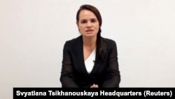 Svetlana Tihanovskaja obraća se javnosti videolinkom iz Litve