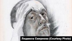 Михаил Крошицкий. Автопортрет. Томск. 1944 г.