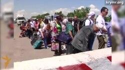 Дитячий «колапс» на адмінкордоні з Кримом (відео)
