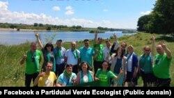 Partidul Verde Ecologist lansându-se în campanie la hidrocentrala de la Dubăsari. 12 iunie 2021