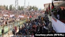 تجمع باشندگان کابل در غازی استدیوم و حمایت شان از روند صلح