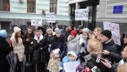 Діти-«кришталики» пікетували Міністество охорони здоров'я (відео)