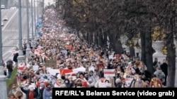 بلاروس کې مظاهرهچیان