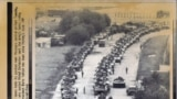 A column of Soviet tanks in Moscow on August 20 was commanded by officers who backed the Kremlin coup leaders.