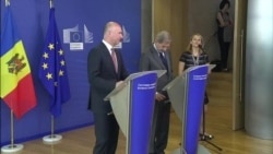 Conferința de presă de la Bruxelles a premierului Pavel Filip