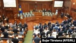 Фотографија од денешното полагање на заклетвата во Косовскиот парламент