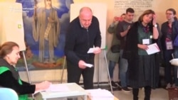 Veterans Of Georgian Politics Vote In Presidential Election
