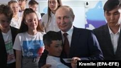 """Путин в детском центре """"Океан"""""""