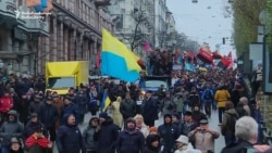 Saakashvili Supporters March In Kyiv