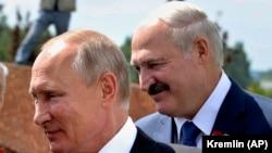 Путин и Лукашенко во Ржеве 30 июня