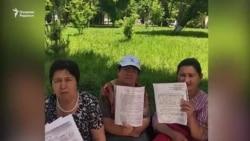 Обращение участниц пикета в Ташкенте к президенту Узбекистана