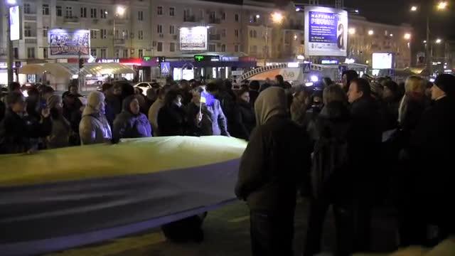 На Євромайдан в Донецьку вийшло близько 200 людей