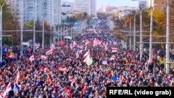 Акция протеста в Минске, 18 октября 2020 года