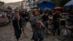 افراد گروه طالبان در شهر کابل