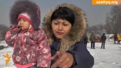Снос домов на окраине Алматы
