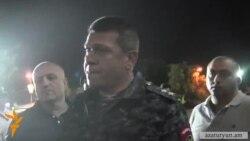 Ոստիկանապետը Ազատության հրապարակում է տեսնում լուսավոր դեմքերի