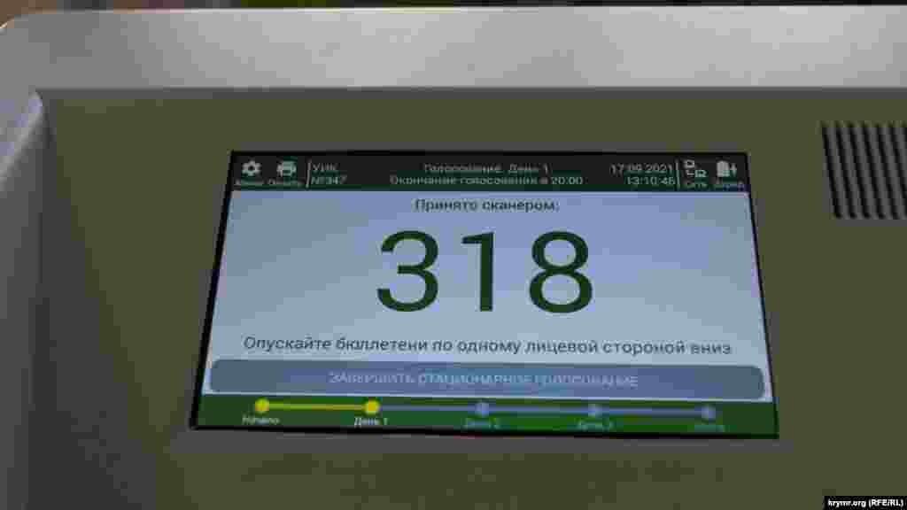 На дільниці встановили дві електронні урни для голосування, 17 вересня 2021 року