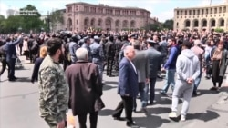 Armenian Protesters Detained At Yerevan's Central Square