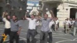 Акция протеста в центре Баку