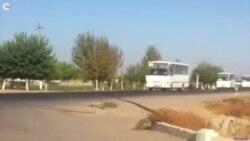 OZOD-VIDEO: Колонна автобусов, направляющихся на хлопковые поля