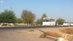 OZOD-VIDEO: Пахтазорга кетаëтган автобуслар колоннаси