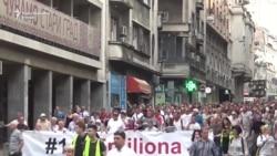 Protest na sedmu godišnjicu od dolaska SNS-a na vlast