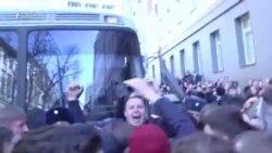 Politicianul rus de opoziție Aleksei Navalnîi a fost arestat în centrul Moscovei la un protest anti-corupție
