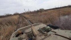 Краєвиди Водяного під час доставки «БК», води та харчів на БМП-2