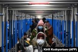 Декабрь 2020 года. В вагоне московского метро