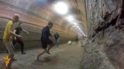 Падземны футбол у Салігорску
