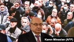 ARMENIA -- Politician Vazgen Manukian attends an opposition rally in Yerevan, December 5, 2020