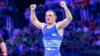 Ленур Темиров после победы над борцом из Узбекистана Эльмуратом Тасмурадовым, 1 августа 2021 года