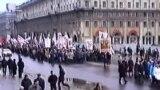 Як 25 Сакавіка адзначалі ў цэнтры Менску. Архіўнае відэа 1993 году