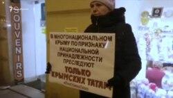 «Никто ничего не знает»: акция в поддержку крымских татар в Санкт-Петербурге (видео)